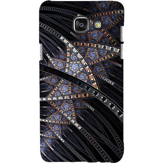 ifasho modern design in multi color pattern Back Case Cover for Samsung Galaxy A7 A710 (2016 Edition)
