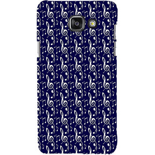 ifasho Animated Pattern design black and white music symbols and lines Back Case Cover for Samsung Galaxy A7 A710 (2016 Edition)