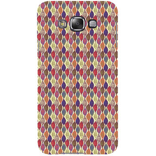 ifasho Animated Pattern colrful design leaves Back Case Cover for Samsung Galaxy E7