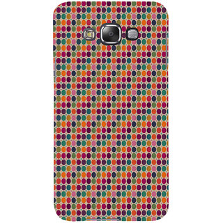 ifasho Animated Pattern  littel and Big colourful Circle Back Case Cover for Samsung Galaxy E7