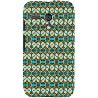 ifasho Animated Pattern design colorful flower in royal style with lines Back Case Cover for Moto G