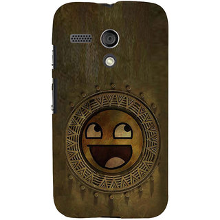 ifasho Smilee on wood Back Case Cover for Moto G