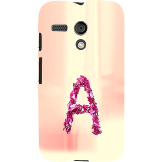 ifasho alphabet name series A Back Case Cover for Moto G