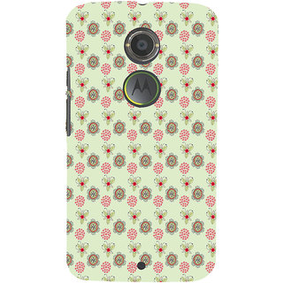 ifasho Animated Pattern design many small flowers  Back Case Cover for Moto E2