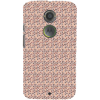 ifasho Animated Pattern colourful littel stars Back Case Cover for Moto E2