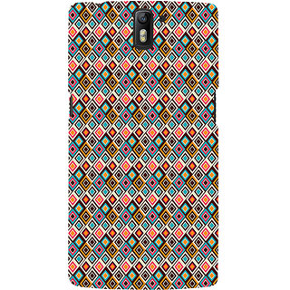 ifasho Animated Pattern design colorful in royal style Back Case Cover for One Plus One
