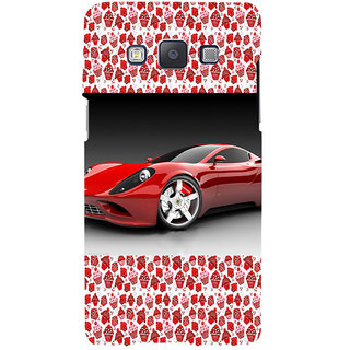 ifasho Stylish RED Car Back Case Cover for Samsung Galaxy A7