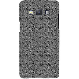 ifasho Animated Pattern design black and white flower in royal style Back Case Cover for Samsung Galaxy A7