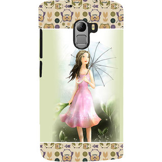 ifasho young Girl with umbrella Back Case Cover for Lenovo K4 Note