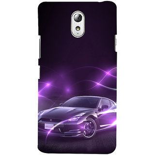ifasho Purple car Back Case Cover for Lenovo Vibe P1M