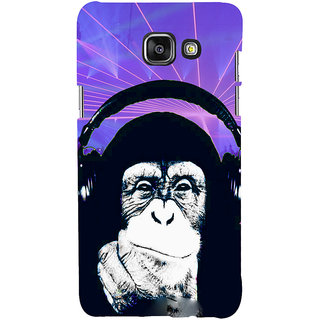 ifasho Monkey with headphone Back Case Cover for Samsung Galaxy A7 A710 (2016 Edition)
