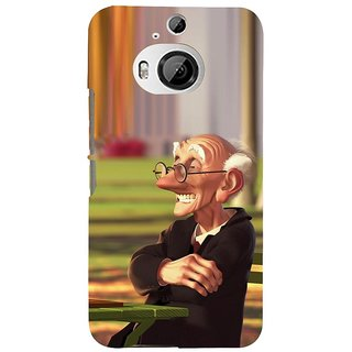 ifasho Old man playing chess animated design Back Case Cover for HTC ONE M9 Plus