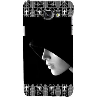 ifasho covered Girl and Spider Back Case Cover for Samsung Galaxy A7 A710 (2016 Edition)