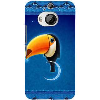 ifasho Bird sitting on moon animated design Back Case Cover for HTC ONE M9 Plus
