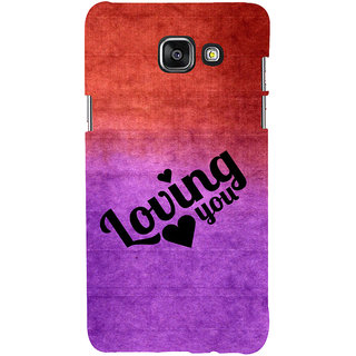 ifasho Loving you Back Case Cover for Samsung Galaxy A5 A510 (2016 Edition)