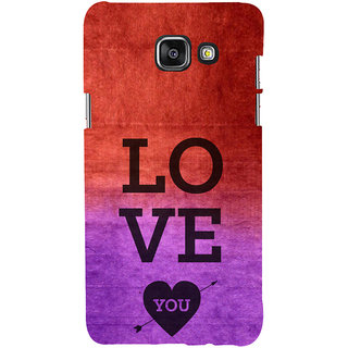 ifasho love you quotes Back Case Cover for Samsung Galaxy A5 A510 (2016 Edition)