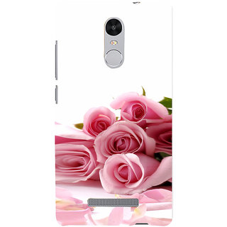ifasho Red Rose bunch Back Case Cover for REDMI Note 3