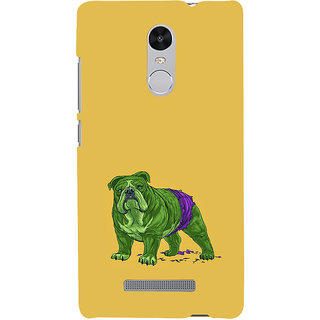 ifasho Animated Design Dog Back Case Cover for REDMI Note 3