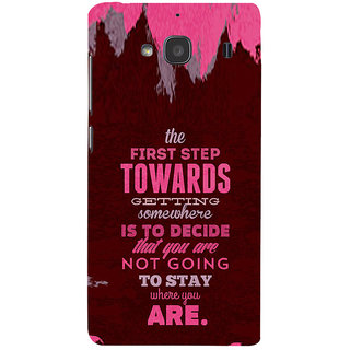 ifasho Kowledge quotes Back Case Cover for Redmi 2S
