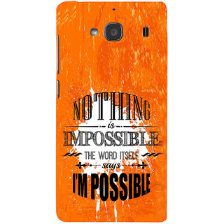 ifasho Good Quote on Achivement Back Case Cover for Redmi 2S