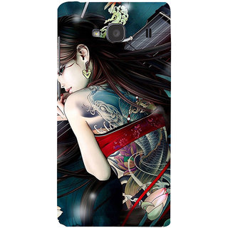 ifasho tatoo girl Back Case Cover for Redmi 2S