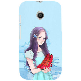 ifasho Girl with sandle in hand Back Case Cover for MOTO E