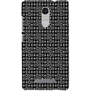 ifasho Modern Theme of black and white dots inside Square Back Case Cover for REDMI Note 3