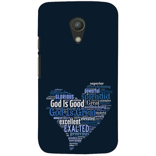 ifasho Quotes on God inside a heart Back Case Cover for Moto G2
