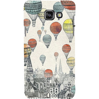 ifasho city with artistic hot air baloon Back Case Cover for Samsung Galaxy A7 A710 (2016 Edition)