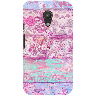 ifasho Modern Art Design painted flower on wood Back Case Cover for Moto G2