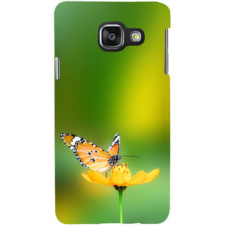 ifasho Butterfly sitting on flower Back Case Cover for Samsung Galaxy A3 A310 (2016 Edition)