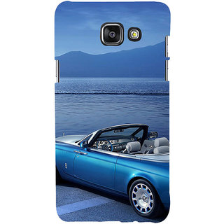 ifasho Long Car in beach Back Case Cover for Samsung Galaxy A7 A710 (2016 Edition)