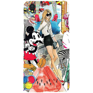 ifasho Modern Art Design Pattern girl shop car food bird Back Case Cover for One Plus X