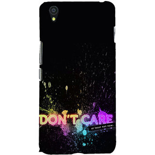ifasho dont care quotes Back Case Cover for One Plus X