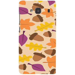 ifasho Animated Pattern colrful design leaves and nuts Back Case Cover for Redmi 2S