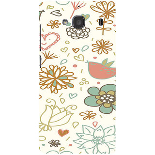 ifasho Animated Pattern colrful design cartoon flower with leaves Back Case Cover for Redmi 2S
