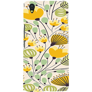 ifasho Animated Pattern colrful flower with leaves Back Case Cover for One Plus X