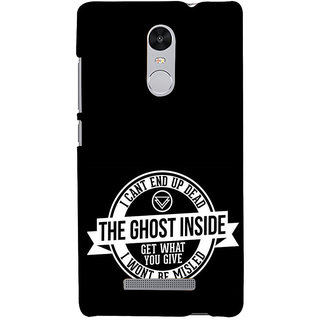 ifasho Think Out of Box Back Case Cover for REDMI Note 3