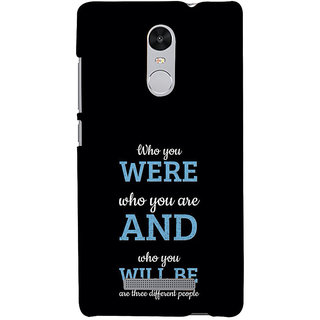 ifasho Philosophical Messge Back Case Cover for REDMI Note 3