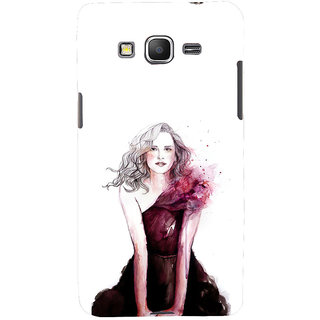 ifasho Cute Winking Girl painting Back Case Cover for Samsung Galaxy Grand Prime