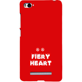 ifasho Fiery Heart modern quotes Back Case Cover for Redmi Mi4i