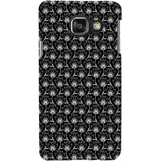 ifasho Animated Pattern black and white many lotus flower Back Case Cover for Samsung Galaxy A3 A310 (2016 Edition)