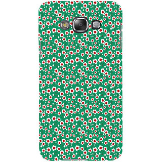 ifasho Pattern green white and red animated flower design Back Case Cover for Samsung Galaxy E7