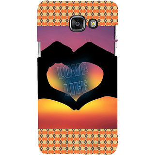 ifasho Love life heart shape made by hand  Back Case Cover for Samsung Galaxy A7 A710 (2016 Edition)