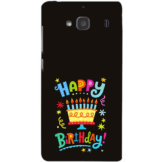 ifasho Wishing Happy birtday For Occassion Back Case Cover for Redmi 2S