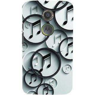 ifasho Modern Art Design Pattern Music symbol Back Case Cover for Motorola MOTO X2