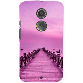 ifasho walking wooden bridge on a sea Back Case Cover for Motorola MOTO X2
