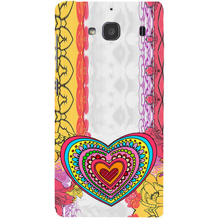 ifasho Modern Art Design Pattern with Heart and design colorful Back Case Cover for Redmi 2S