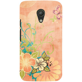 ifasho Animated Pattern colrful 3Daditional design cloth pattern Back Case Cover for Moto G2