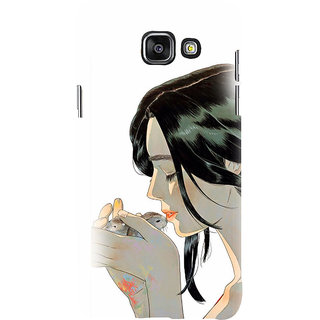 ifasho Girl kissing squirrel Back Case Cover for Samsung Galaxy A7 A710 (2016 Edition)